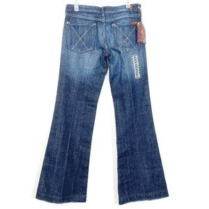 Distressed Dojo Swarovski Crystals Flare Jeans NWT